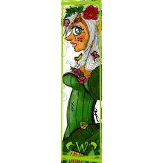 Marque page féerique fantaisie princesse elfe des bois et ses papillons magiques