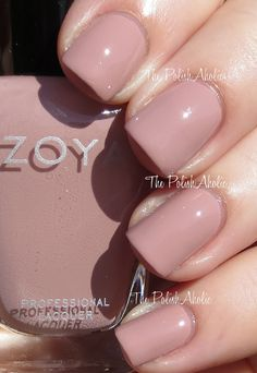 Zoya Naturel Collection Swatches // Rue is a pink toned neutral creme. This is more my speed in terms of neutrals go, I tend to lean more towards pink tones since they work better on my skin tone. The formula was ok, it was a bit patchy and streaky on the first coat. I used 3 coats to even it out.