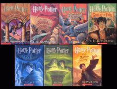 7 Harry Potter Books: Complete Set - Soft cover JK Rowling - Free Shipping!
