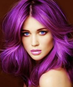 coloration semi permanente cheveux violets #haircolorchanger