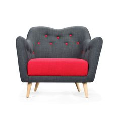 Poppy Buttons Armchair - Scandinavian Modern Living Collection - Dot & Bo