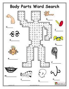 ESL Printable body parts worksheets