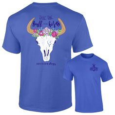 Southernology® Bull By The Horns T Shirt   underthecarolinamoon.com