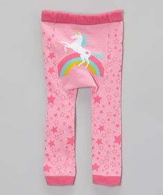 Pink Rainbow Unicorn Leggings - Infant by Doodle Pants #zulily #zulilyfinds