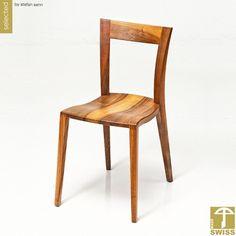 Chair Sedia, in Walnut solid wood or black laquered --- In massivem Nussbaumholz, oder Esche schwarz lackiert Manufactured by WohnGeist for Wood&Luxury Upscale Furniture, Luxury Furniture, Solid Wood, Dining Chairs, Design, Home Decor, Black, Home, Oder