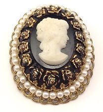 Vintage Gold Tone Large Cameo Pearl Oval Signed W. Germany Brooch Pin  http://www.ebay.com/itm/Vintage-Gold-Tone-Large-Cameo-Pearl-Oval-Signed-W-Germany-Brooch-Pin-/131528127598?pt=LH_DefaultDomain_0&hash=item1e9faff46e