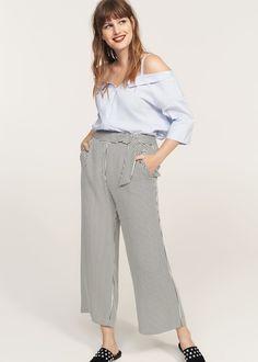 Medium Brown Slim fit-byxa  Violeta by MANGO  Chinos