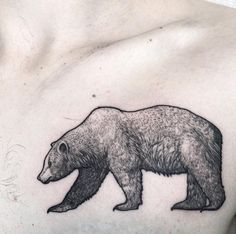 Dotwork Bear Tattoo by Dotwork Bear by Lawrence Edwards