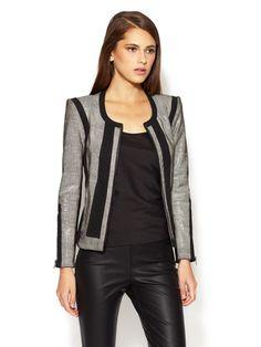 b6bedca1402 fierce    Helmut Lang Rift Stretch Embossed Leather Jacket Sweater Jacket