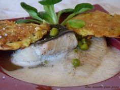 Turbot poché à l'infusion de verveine Filet De Turbot, Sauce Tartare, Filets, Galette, Hummus, Pork, Meat, Chicken, Ethnic Recipes