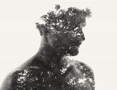 Images à double ou triple exposition, jouant avec talent sur la nature et les visages de Christoffer Relander.