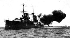 San Giorgio firing her guns during the Italo-Turkish War