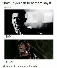 I read Sam but my inner Dean screamed Sammy | Supernatural | Pinterest | Supernatural, Fandoms and Fandom