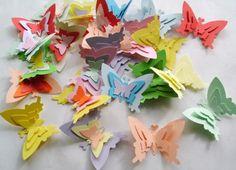 60 de fluturi tripli (10 LEI la HandmadePaperHeaven.breslo.ro)