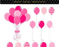 Items similar to balloons clip art, kids party Balloons, baby boys ...