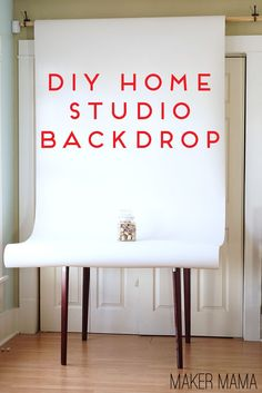 Maker Mama Craft Blog: DIY Home Studio Backdrop #diy #photography #backdrop