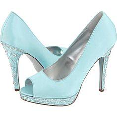 Tiffany blue peep toe heels!