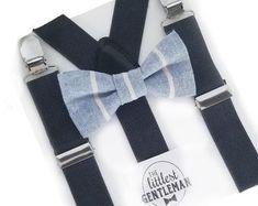 Little boys bow ties, suspenders and ties for weddings. by TheLittlestGentleman Kids Ties, Boys Bow Ties, Bowtie And Suspenders, Little Gentleman, Little Boys, Bows, Weddings, Arches, Bowties