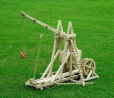 Picture of Trebuchet (working) model step by step free plans and instructions