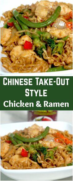 Easy chicken dinner recipe. Chicken and ramen noodles.