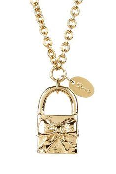 Lock Pendant Necklace on HauteLook