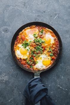The Ultimate Shakshuka Recipe. A perfect recipe for a light iftar meal or for suhoor if you have the energy. Serve with some bread to soak up all the sauce!