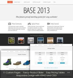 Screenshot of website template: Base 2013 Free Html Website Templates, Html Templates, Web Design Company, Knowledge, Base, Photo And Video, Facts