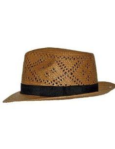 bb5ec71bf19 Amazon.com  Havana Airway Panama Hat Brown Straw Snap brim Mens  Clothing  Straw