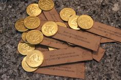 Hobbit party favor idea - Your share of the Lonely Mountain Treasure
