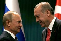"""Erdogan, Putin agree joint push to end Syria war. President Putin and Turkish counterpart Erdogan have agreed to step efforts to bring peace to Syria, with the Russian leader declaring the right conditions now existed to end the over six-year civil war.   After late night talks at Erdogan's presidential palace in Ankara, Putin and Erdogan agreed to push for the creation of a """"de-escalation"""" zone in Syria's key northern province of Idlib, currently controlled by terrorists."""