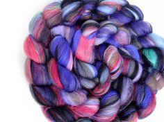 Merino Wool & Silk Roving Hand Blended Braids 148g by WrenAndOllie