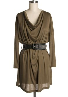 Love this slouchy, easy, comfortable looking dress. Perfect for fall.