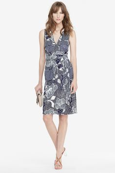 DVF Mellany Silk Jersey Wrap Dress