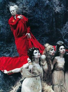 "Dracula and his Brides in Francis Ford Coppola's 1992 version of ""Bram Stoker's Dracula  costume design: Eiko Ishioka"