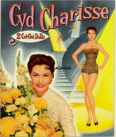 1956 Cyd Charisse paper doll / eBay