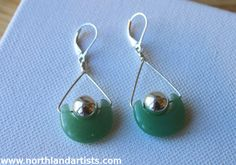 Handmade aventurine & sterling silver earrings by jewelry artist Susan Pauls. (sold)