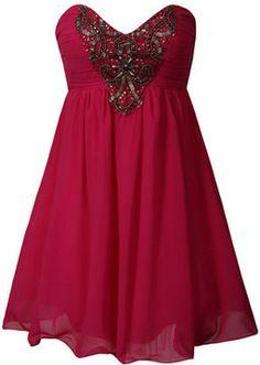 Pink embellished prom dress on shopstyle.com