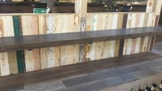 Colorful reclaimed wood - Whole Foods Domain