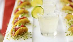 Tuna Tacos and Margaritas {Mary Giuliani Catering}
