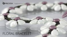 Bracelet made of beads and seed beads from the PRECIOSA Traditional Czech Beads™ brand  free pdf Seed Bead Tutorials