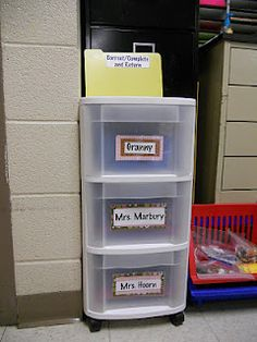 Organizing Parent Volunteers. Oh the possibilities with this! Intervention success...