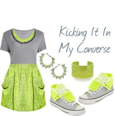 """""""Kicking it in My Converse"""" by latoyacl ❤ liked on Polyvore"""