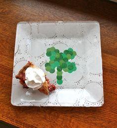 St Patricks Day Craft Shamrock Doily Plate