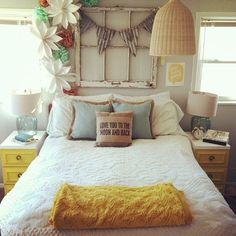 love the window above the bed