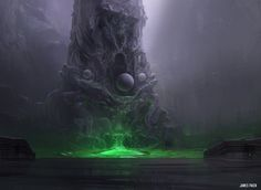 ArtStation - Magic The Gathering - Temple of Malady, James Paick