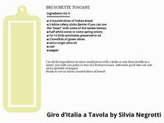 BRUSCHETTE TOSCANE Bruschetta, Italian Recipes, Words, Horse