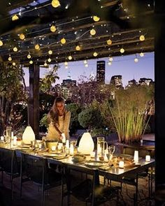 Great idea . Imagine a tourism experience dinner lights during daylight  VISIT MEDELLIN COLOMBIA