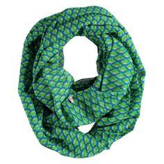 Infinity sjaal met grafische print