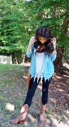 Denim and Dierks Bentley - the perfect outfit for a summer into fall country concert!