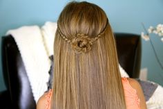Braided Flower Tieback - 25 Easy Breezy Summer Hairstyles…Not